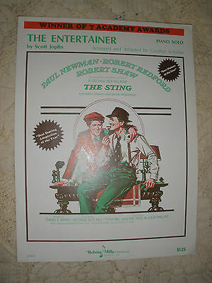 The Entertainer Sheet Music, Piano Solo 1974 Scott Joplin from The Sting