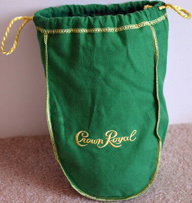 CROWN ROYAL APPLE GREEN FELT BAG 1 LITER ~ NEW ~ FREE SHIPPING