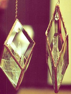 big EASY PRISM You Make from (5) 3 x 5 Clear Diamond Bevels - NICE hanging prism