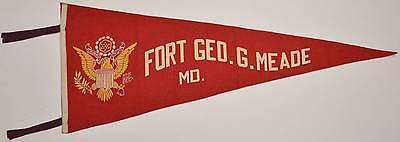 """1940s WWII Felt Pennant Fort George G Meade US Army 76th Division POW Camp 29"""""""