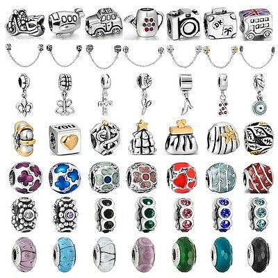 Fashion European charm bead Fit For 925 sterling silver Bracelet Bangle Necklace
