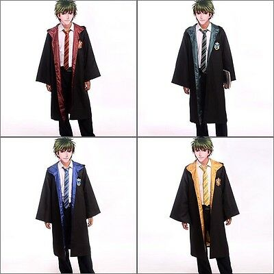 Cosplay Harry Potter Adults Robe Cloak Gryffindor/Slytherin/Hufflepuff/Ravenclaw