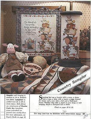 A502 COUNTRY FARM  SAMPLER COUNTED CROSS STITCH CHART/INSTRUCTIONS