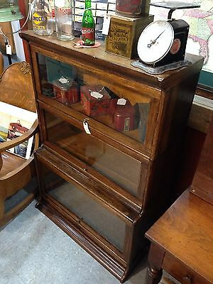 Antique Humphry Widman Barrister Bookcase 3 Stack