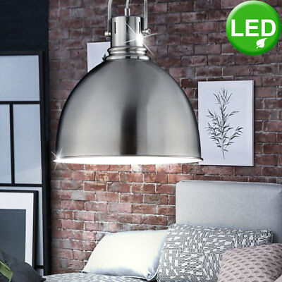 h ngeleuchte pendelleuchte grau industrie design 32 cm nickel metall retro loft eur 99 00. Black Bedroom Furniture Sets. Home Design Ideas