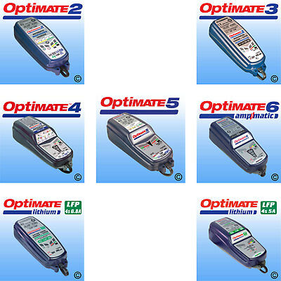 OPTIMATE 2 / 3 / 4 DUAL / 5 / 6 Lithium Motorbike Motorcycle Battery Charger