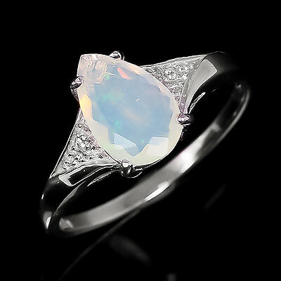 New Arrived! Natural Opal Sterling 925 Silver Ring Size 8.25/R5350