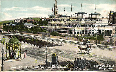 Kingstown, Co. Dublin. Queen Fountain & Pavilion by Chas. Cook.