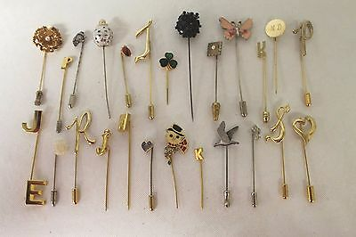 25 PC Lot Of Vintage to Now Hat Stick Pins Wear Repair Gold Silver Tone Floral C