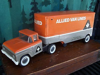 Vintage Buddy L Lil Beaver Allied Private Label Ford Toy Moving Van Truck