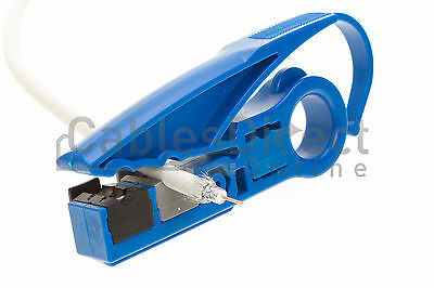 Coax UTP Cable Jacket Strip Tool RG6/RG59/UTP Stripper Cutter Cat5e Cat6 Tool