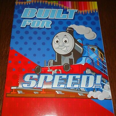 Thomas 16 Page Coloring Book + 2 Pages Of Stickers (Brand New)
