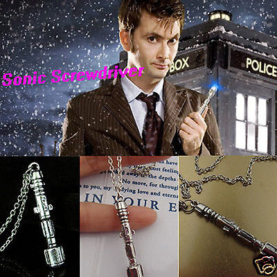 3D Movie Doctor Who TARDIS Sonic Screwdriver Universal Pendant Necklace 1X An170