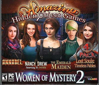 LOST SOULS: TIMELESS FABLES Hidden Object 4 PACK WOMEN OF MYSTERY 2 PC Game NEW