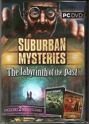 SUBURBAN MYSTERIES The LABYRINTH OF PAST Hidden Object 3 PACK PC Game DVD NEW