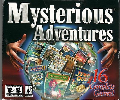 MAGIC ACADEMY 1 & 2  Hidden Object MYSTERIOUS ADVENTURES 16 PACK PC Game DVD NEW