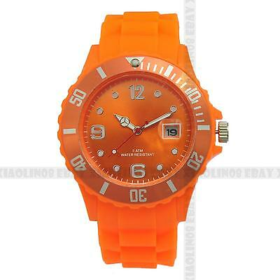 FASHION GIFT Wrist DATE Watch [13 COLOR] Unisex Jelly Candy Sport Quartz NEW HOT