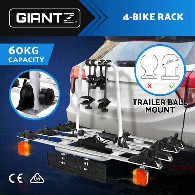 Giantz Towbar Towball Hitch Ball Mount 4 Bicycle Bike Carrier Rack for Car