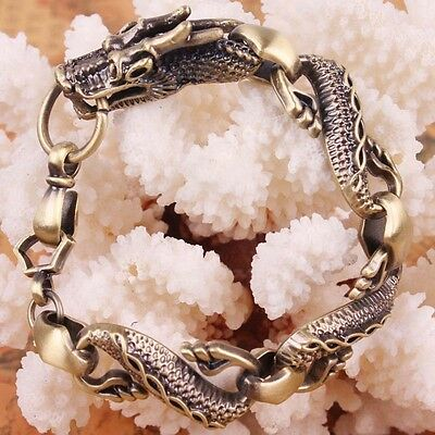 Hot Stainless Steel Vintage Dragon 316L Travel Best Silver Link bracelets SF0008
