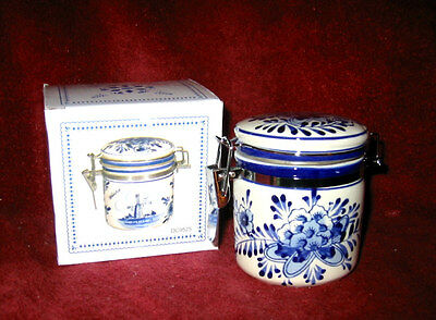 Delft Blue Screenprint Small Canister