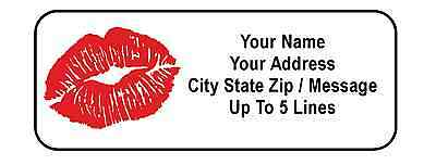 30 Kiss / Red Lips Personalized Address Labels