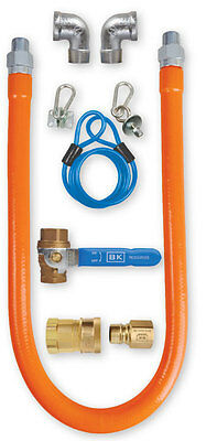 """New Commercial Kitchen 24"""" x 3/4"""" Gas Line Hose and Quick Connector"""
