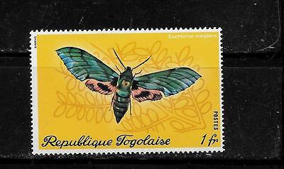 TOGO SC #756 MINT -MNH 1970 LARGE MOTH COMMEMORATIVE SINGLE STAMP