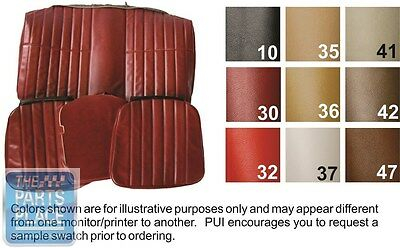 1974 Camaro Standard Black Front Buckets Seat Covers & Coupe Rear - PUI