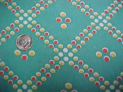 BEST Vintage Feedsack Quilt Fabric 40s Turquoise Polka Dots Flour Sack Material
