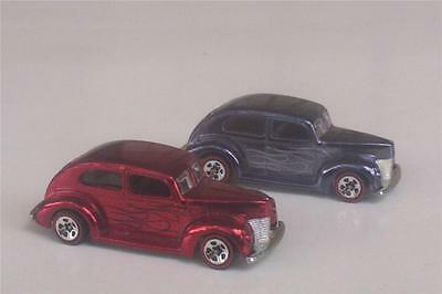 40 Ford Fat Fendered Hot Wheels Flames LOOSE 2 Car Lot