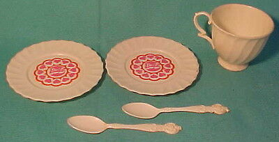 Vintage 5-Pc Barbie Dishes from Eagle Toys Canada