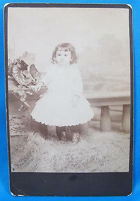 Toddler Little Girl Cabinet Photograph Studio Portrait Reynolds Brooklyn ED NY