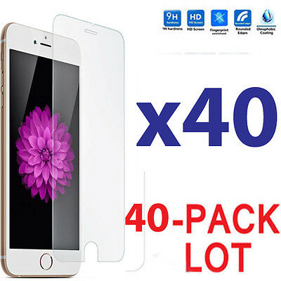 40x Wholesale Lot Tempered Glass Screen Protector for Apple iPhone 6