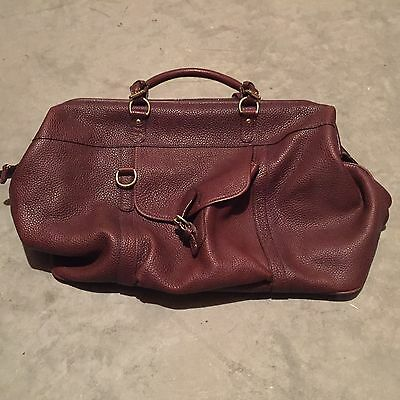 "Mulholland Rare Shorthorn bag. Speciality made american ""BISON"" Leather"