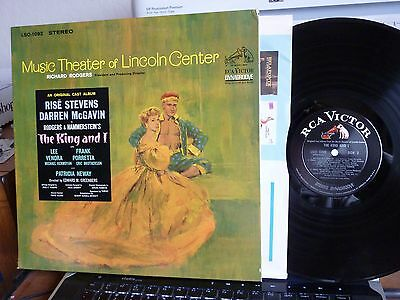 """LP """"THE KING AND I"""" MUSIC THEATER OF LINCOLN CENTER RCA VICTOR LSO-1092 VG++"""