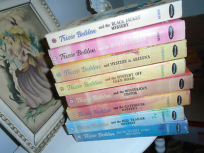 Lot of 8 Trixie Belden Series 1960s Matching Hardcover Books #1 through 8