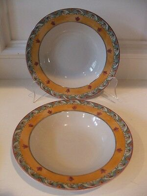 PTS International Interiors Acanthus 2 Soup Bowls Genuine Stoneware Total of 2