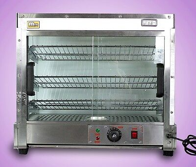 """New MTN Commercial 25""""x23""""x17"""" Large Countertop Food Pizza Display Warmer"""