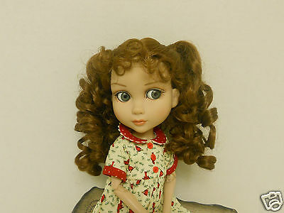 """Nice 8""""-9"""" Brown Ponytail Wig Fits Tonner/ Wilde Patience Doll"""