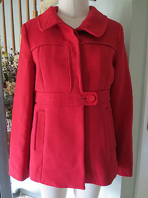 * REISS * LOVELY RED WOOL JACKET,  SIZE S, RETAIL OVER $400, FABULOUS STYLE