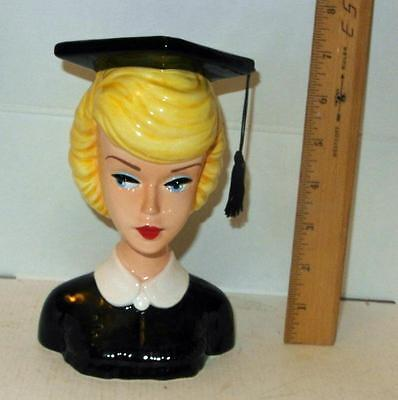 ENESCO FROM BARBIE WITH LOVE  GRADUATE LADY'S HEADVASE