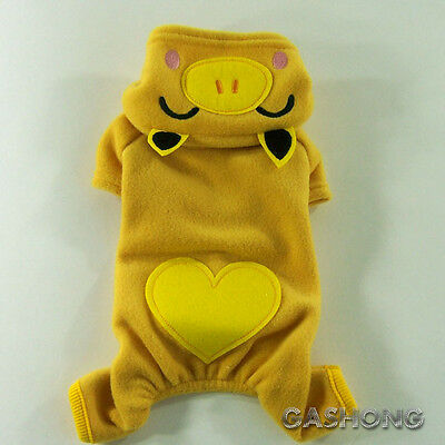 Dog&Cat Clothes Pig Costume All-in-One Suits_H302 Yellow,sz M