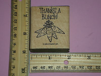 THANKS A BUNCH! CARROTS rubber stamp STAMPIN' UP!
