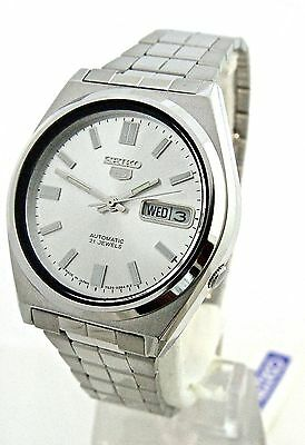 SEIKO 5 Men's See through SNXF06 Silver DIAL Automatic Watch Day&Date