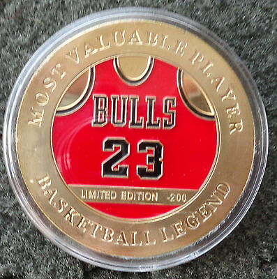 MICHAEL JORDAN  1 oz  24 KT .gold plated  COLLECTIBLE  COIN  # 2