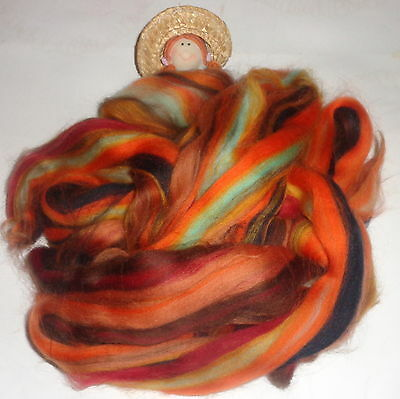 Beautiful Tops/rovings Blend ' Jaffa ' Corriedale  Spinning Machine Washable