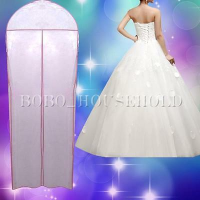 """72"""" Breathable Wedding Prom Dress Gown Garment Clothes Cover Dustproof Bag Zip"""