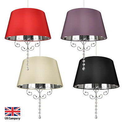 Modern Silk Effect Ceiling Pendant Chandelier Light Lamp Shade Lampshades Lights