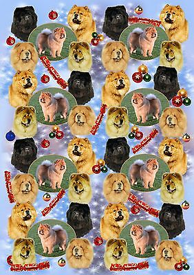 Chow Chow Dog Christmas Wrapping Paper By Starprint