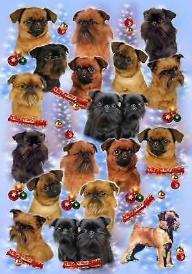 Griffon Dog Christmas Wrapping Paper By Starprint